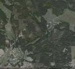 Село Повч и хутор Буда. Вид из космоса.