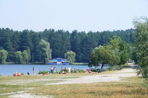 Пляж на базе Антонова.