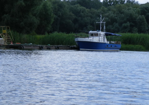 Водно-гребная база ДЮСШ, вид с воды.
