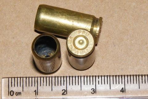Гильза от пистолета-резинострела 9 мм.