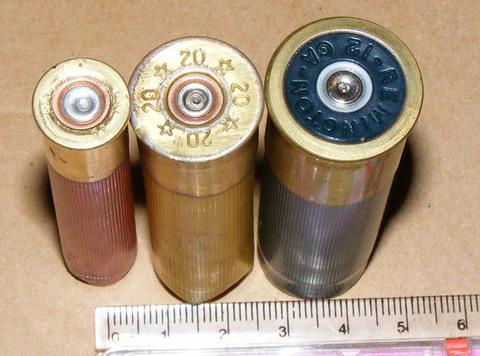 Гильзы калибров 410, 20 и 12.