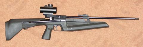 Пневматическая винтовка ИЖ-61 с коллиматорным прицелом.