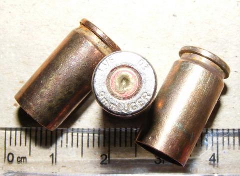 Гильзы пистолетные 9 мм Люгер.