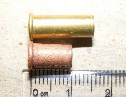 Укороченная гильза калибра 5.6 мм.