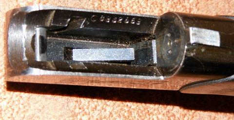 ИЖ-18. Ствольная коробка с отнятым стволом.