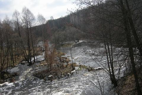 Вид от плотины вниз по течению.