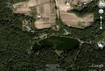 Озеро в Голосеево. Вид из космоса.