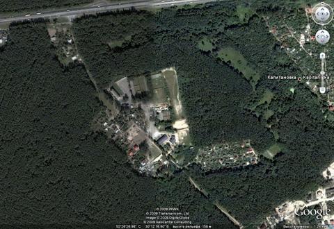 """Так Гугль видит из космоса стрелковый комплекс """"Снайпер""""."""