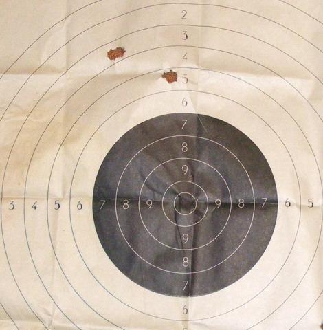 ИЖ-18. Пристрелка пулей. Первая тройка.