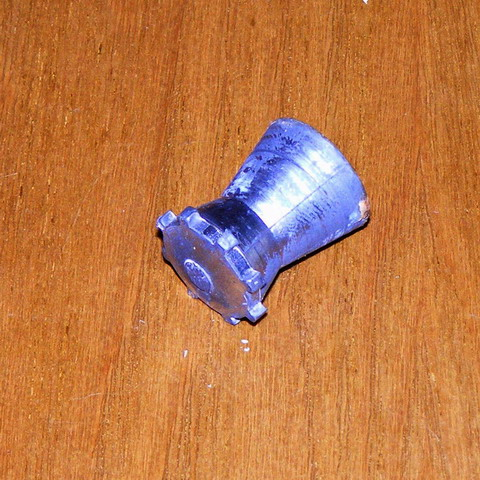 Пулевой патрон ТАХО Диаболо. Пуля, вид спереди.