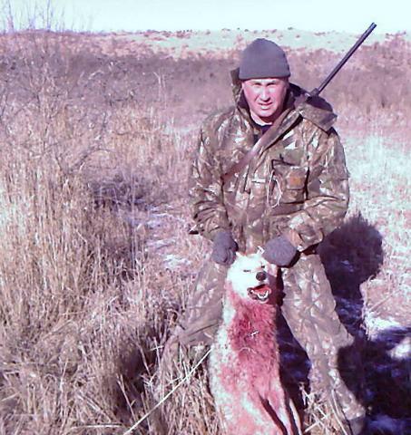 Астраханская область. Охота на волков.