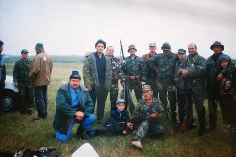 Охотники Астраханской области.