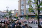 """Участники объединения """"Красная Звезда"""" на параде Победы 9.05.2010. Т-34."""