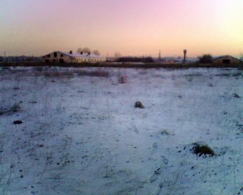 Пробная засидка. Восход солнца у фермы.