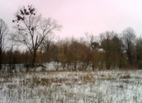 Вид от норы на брошеный лагерь.
