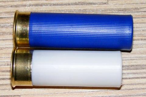 Стандартный дробовый патрон и патрон с пулей Полева-3.
