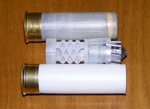 Оценка положения пыжа и пули с использованием готового патрона.