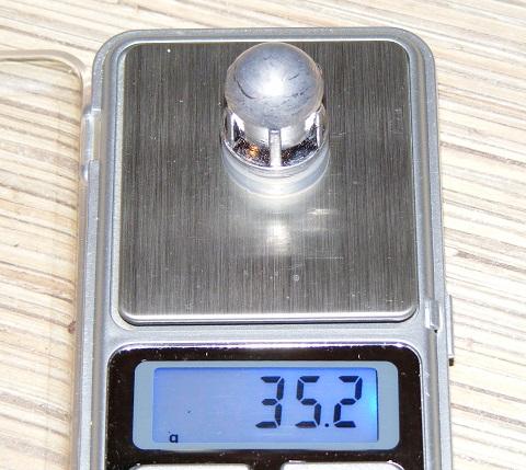 Пуля Вятка-2. Масса 35.2 грамма.