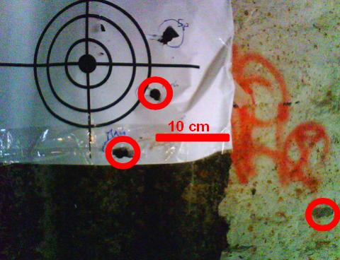 Результат отстрела пуль Майера.