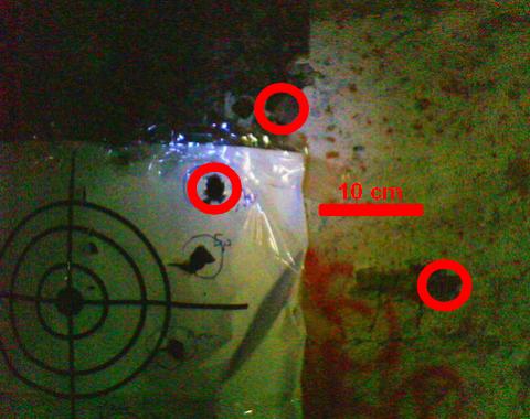 Результат отстрела свинцового макета пуль Рубейкина.