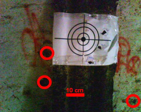 Результат отстрела пуль Вятка-2.