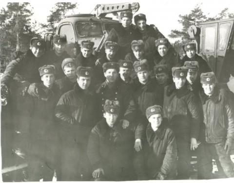Февраль 1987 инженерный взвод в автопарке