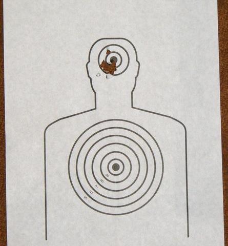 Crosman 1077. Дистанция 3 метра. Разброс после 24 выстрелов на одном баллоне.