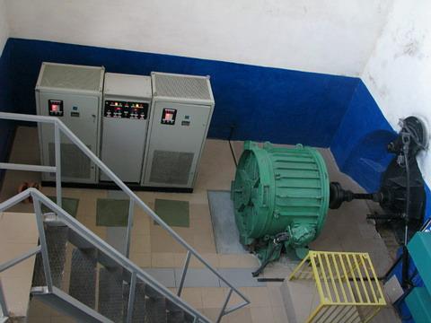 Машинное отделение Повчанской ГЭС. 2012 год.