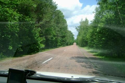 Дорога Лугины - Липники.