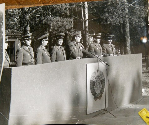Командование на трибуне (Фото из коллекции Рябчука В.В.)