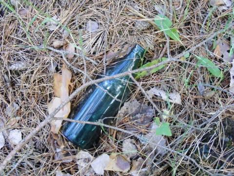Бутылка на месте чипка.