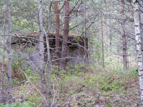 Огневое сооружение возле потерны (если смотреть от караулки, то слева).