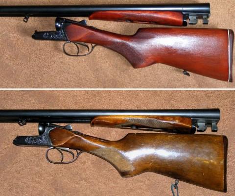 Ружье ИЖ-43 до и после реставрации.