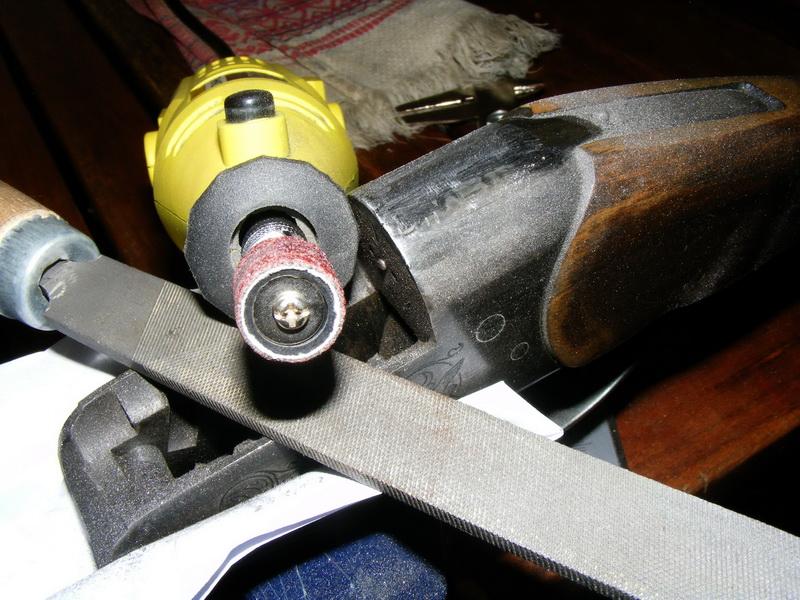 Шлифовка верхней части УСМ.