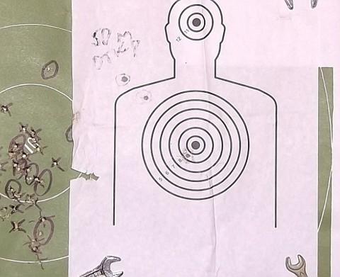 Пристрелка оптики 4х32 на ТОЗ-17-01. Мишень №1.