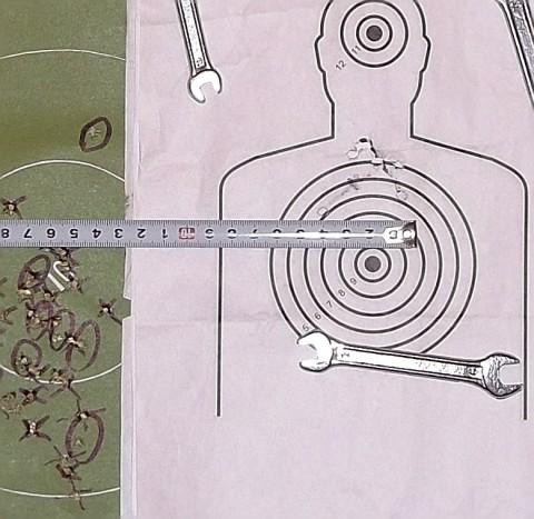 Пристрелка оптики 4х32 на ТОЗ-17-01. Мишень №3.